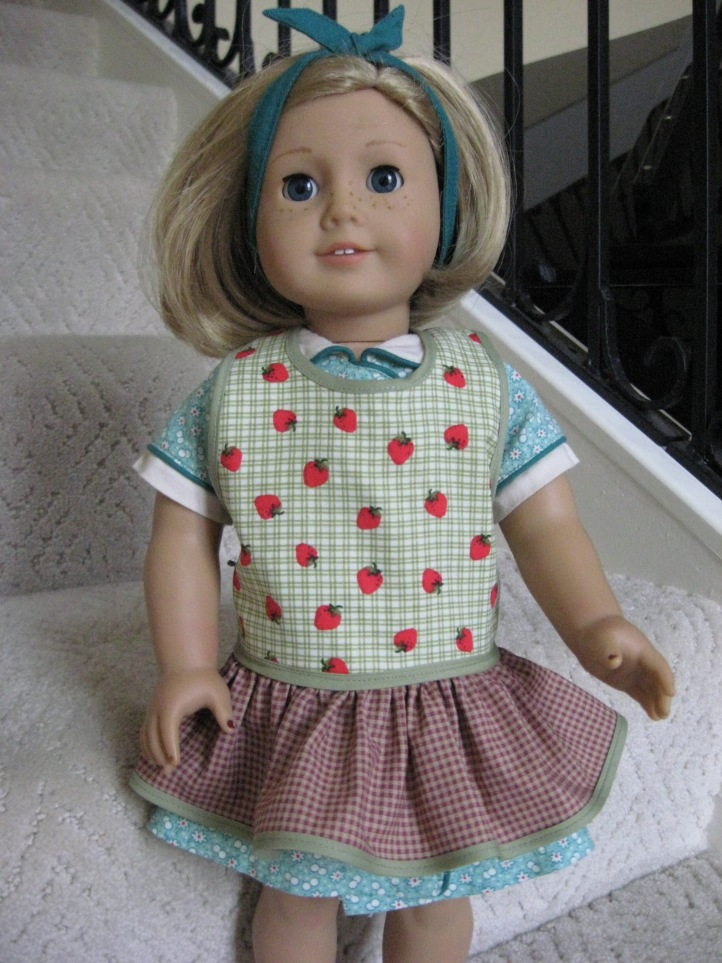 American Girl Kit apron homemade doll clothes