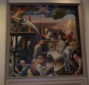 Thomas Hart Benton murals IU