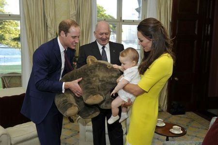 William, Kate, and Prince George in Australia