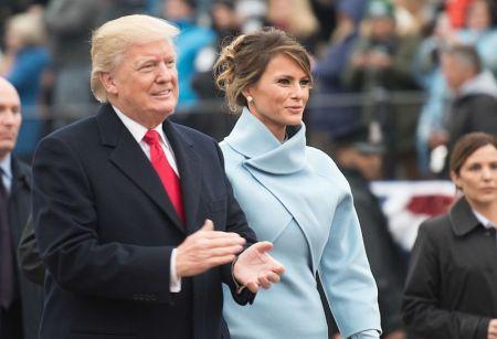 Donald and Melania Trump on inauguration day (public domain)