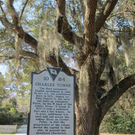 Charles Towne Historic Site Charleston SC trees Spanish moss