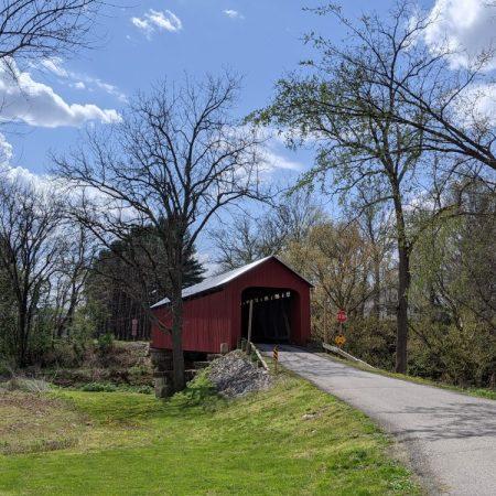 covered bridge Commiskey Indiana